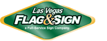 Las Vegas Flag and Sign