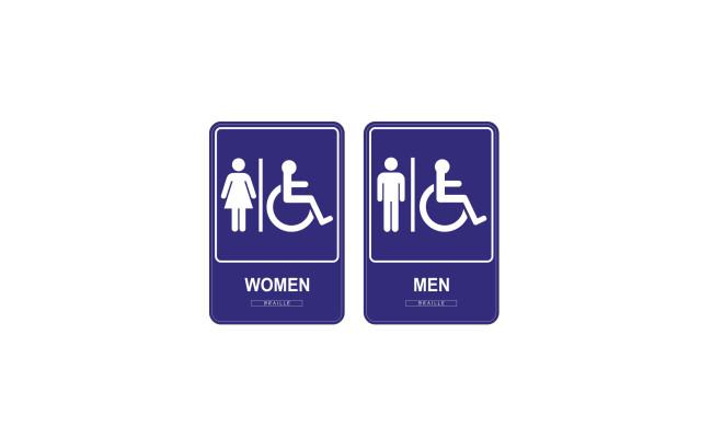 ADA Signs Men and Women 2