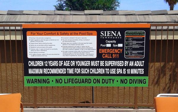 Pool & Spa Signs